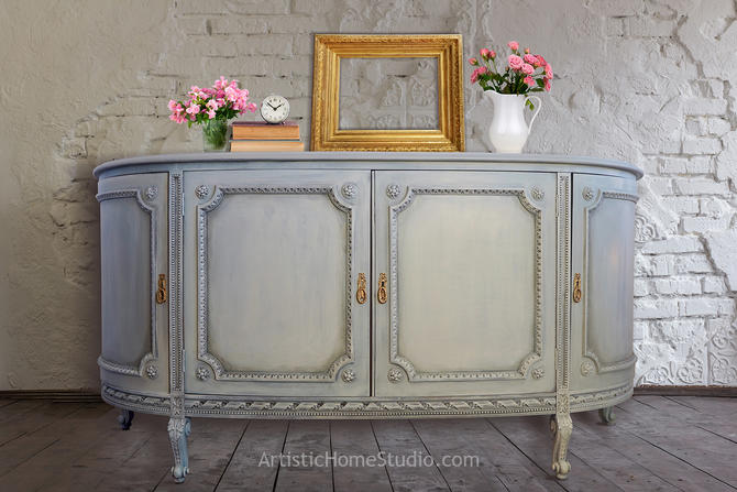 20th Century French Country Rounded Sideboard