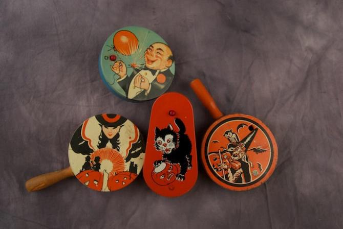 sale was 140 vintage lot halloween noise makers by theresawellsstifel