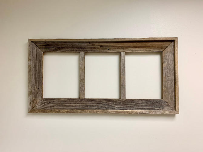 Reclaimed Wood Multi-Opening Picture Frame | 8x10 Picture Frame | Wedding Frame | Family Photos | Artwork Frame | School Photos | Custom by PiccadillyPrairie