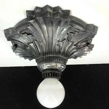 4605 Ceiling Light Bulb Fixture 1920 White Metal Rewired Metal Finish by lampslightsshades
