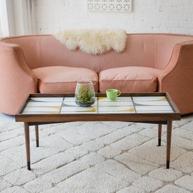 Lota Glass & Walnut Coffee Table