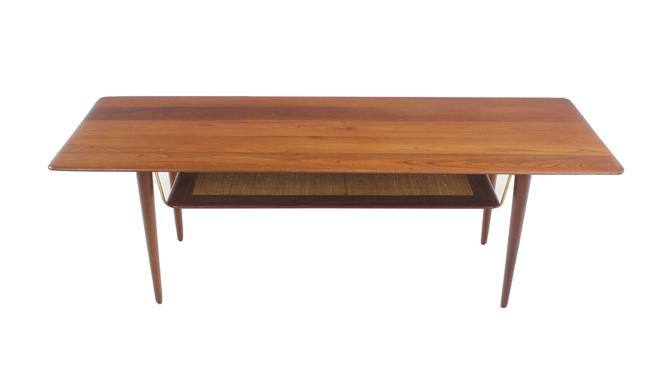 Scandinavian Modern Solid Teak Coffee Table Designed by Peter Hvidt