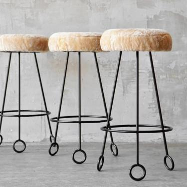 Made to Order Jean Royere Style Bar Stools by FandFVintage