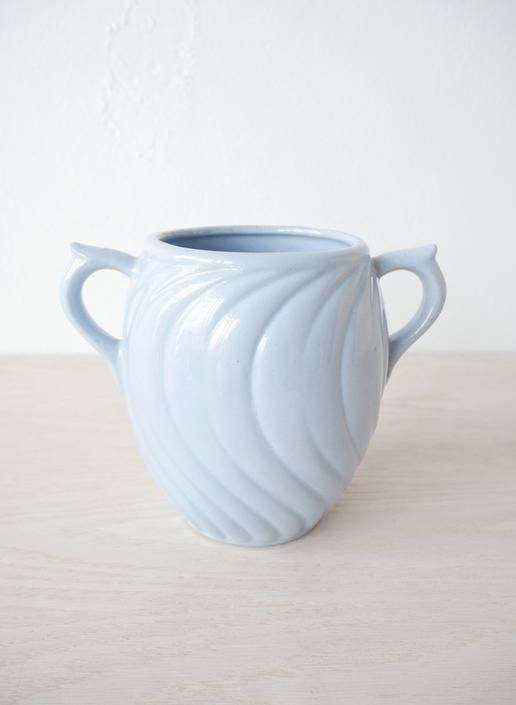 Light Blue Double Handle Vase