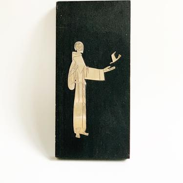Mid Century Mexican Emaus St. Francis Wall Mounted P{laque by SabineVintageHome