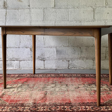 Mid Century Modern WALNUT DINING TABLE + expansion leaves by CIRCA60