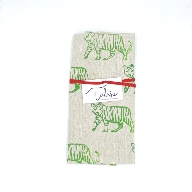 *Linen Tea Towel in Tiger (multiple colors)