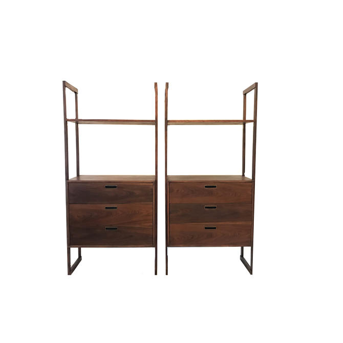 Vintage Mid Century Shelving Units In Wood by minthome