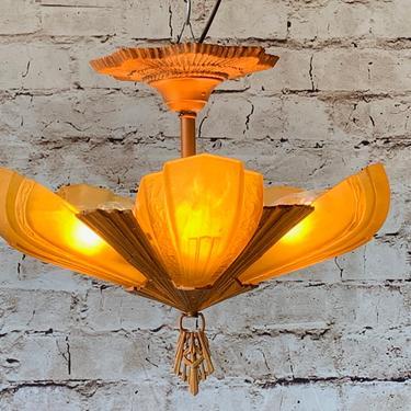 Short Ceiling 5 light by Virden #1870 by vintagefilament