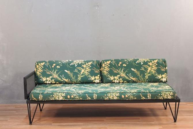 Atomic Emerald Floral Daybed Sofa