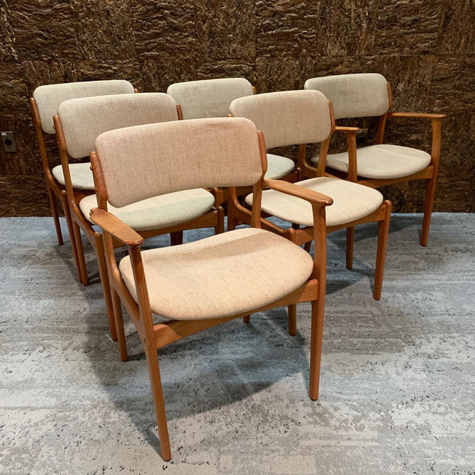 HA-19250 Set of Six Eric Buch Teak Dining Chairs