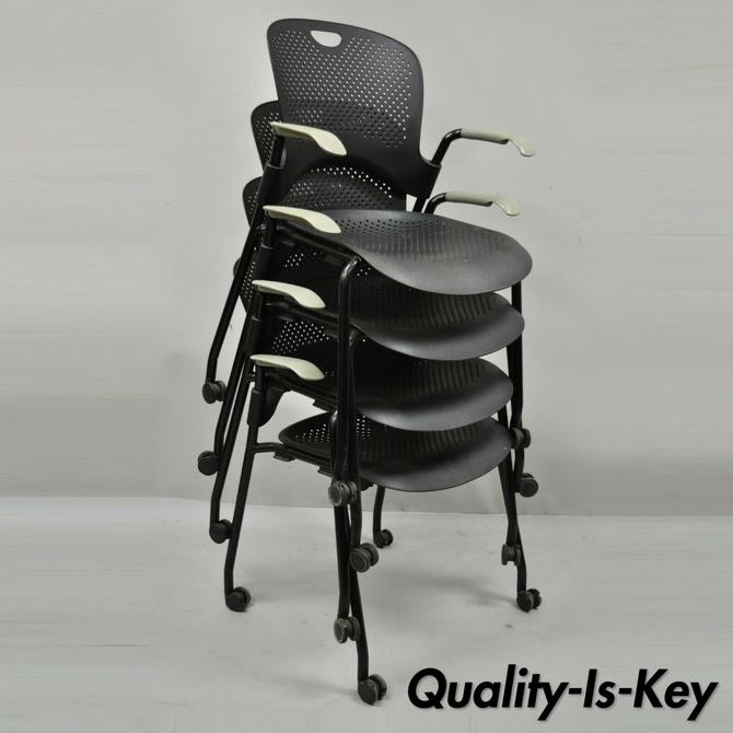 Herman Miller Caper Stacking Chair Office Computer Desk Chair - Set of 4