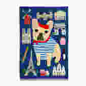 Bonjour Frenchie French Bulldog Tea Towel