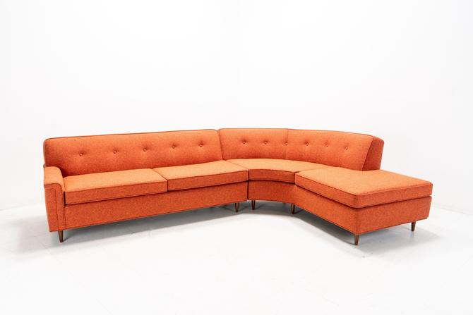Mid Century Modern Curved Sectional by TDFurniture