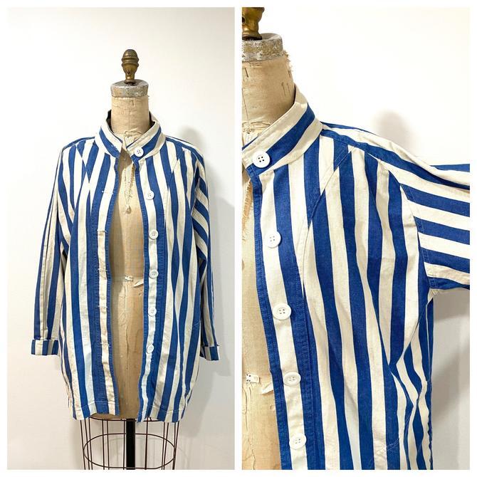 90s striped cotton blazer by harlowandspring