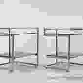 Pair of Chrome End Tables