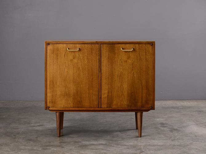 3ft Mid Century Modern Walnut Cabinet Dresser Credenza by MadsenModern