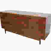 Credenza Long Dresser Walnut Bassett Denmark '65 Mid Century Modern by HearthsideHome