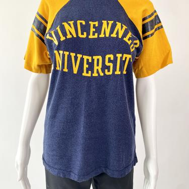 1970's Blue & Yellow Vincennes Jersey Tee