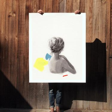 In Place .  extra large wall art . giclee print by ClareElsaesser