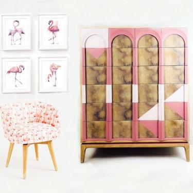 Mid Century Modern Highboy Chest. Vintage MCM Thomasville Dresser. Minimalist Girl Bedroom Chest of Drawers. Modern Farmhouse Furniture by withlovefurniture10