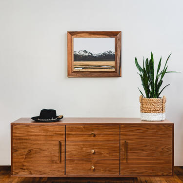 Mid century Credenza, mid-century credenza, walnut credenza, by CascadiawoodworksUSA
