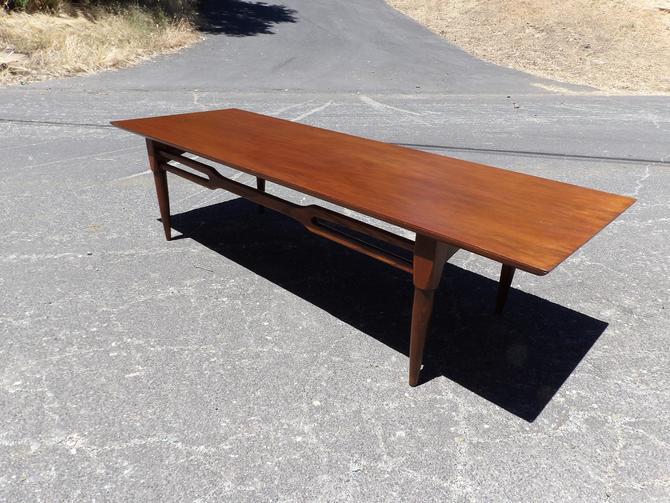 Mid Century Modern Coffee Table Low Profile Walnut Wood Sofa Entryway Table Collection Danish Modern Living Room Paul Mccobb by MakingMidCenturyMod