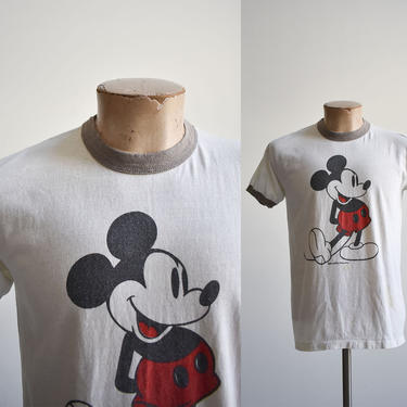 Vintage Mickey Mouse Ringer Tee by milkandice