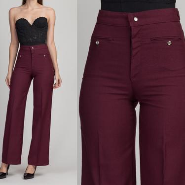 """70s Levi's Purple Pearl Snap Trousers - Extra Small, 24""""-26"""" 