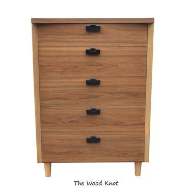 Mid Century Modern American Of Martinsville Walnut Highboy Dresser