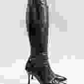 Manolo Blahnik Leather Boots, Size 38