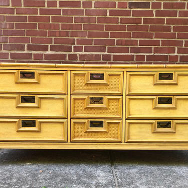 Available for a custom order. Beautiful Stanley Furniture, faux bamboo, 9 drawer dresser. by emmaleejanedesign