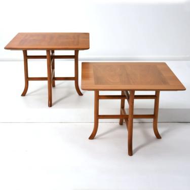 Pair Robsjohn Gibbings Sabre Leg Side Tables 1950s by 20cModern