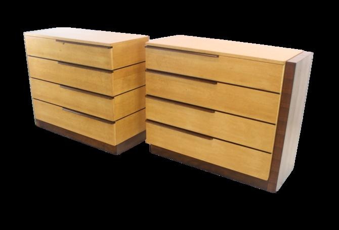 Rare Set of Art Deco Dressers by Gilbert Rohde for Herman Miller