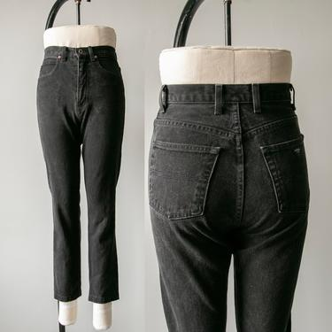 "1990s Guess Jeans Denim Black High Waist 27"" x 27"" by dejavintageboutique"