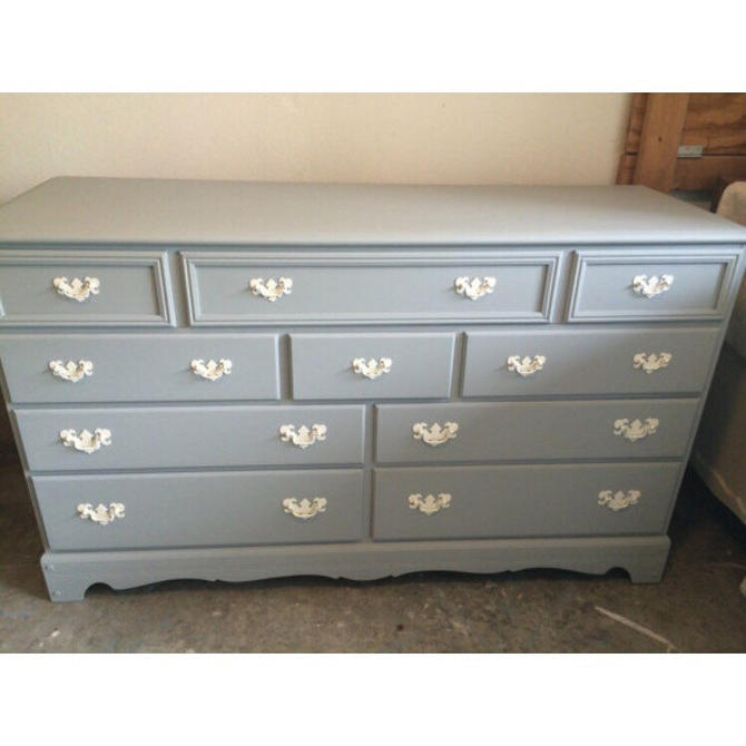 Baby Blue Dresser/Changing Table/Credenza by SimonSaysSalvage