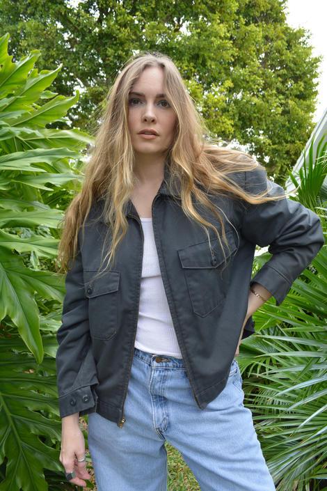 vintage workman jacket / vintage grey workman jacket / vintage grey coat / vintage grey jacket / gray jacket / gray coat by memoryjunkievintage