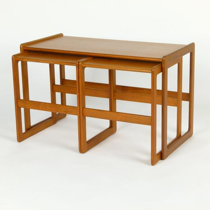 Trio of Teak Nesting Tables