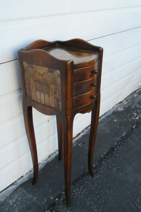 Painted Small Nightstand Side End Table 1842
