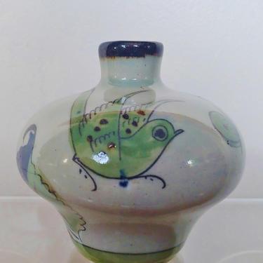 Vintage Tonala Pottery Vase by Ken Edwards Mexican Folk Art by ModandOzzie