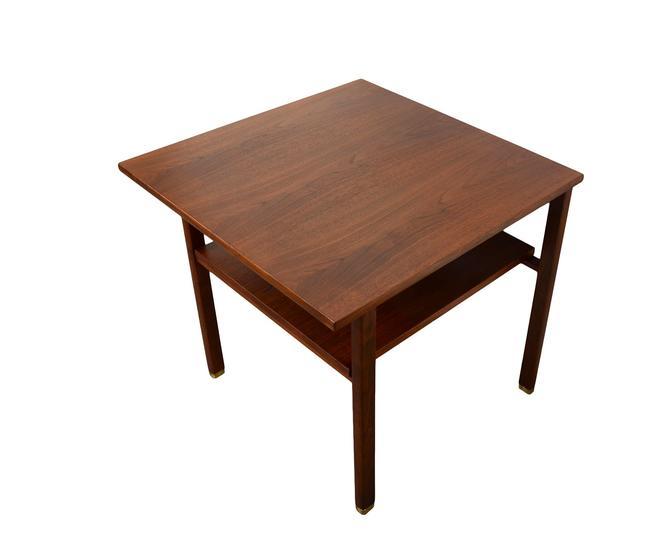 Dunbar Walnut Side Table Nightstand Mid Century Modern by HearthsideHome