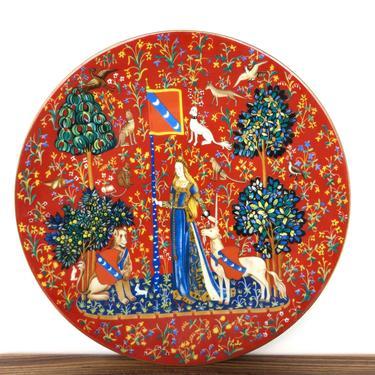 Robert Haviland & C Parlon Limoge France La Dame á la Licorne Plate, 1980 Limited Edition Porcelain Collectors Decorative Plate by HerVintageCrush