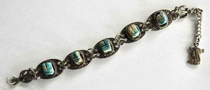 Porcelain Scarab Bracelet by LegendaryBeast