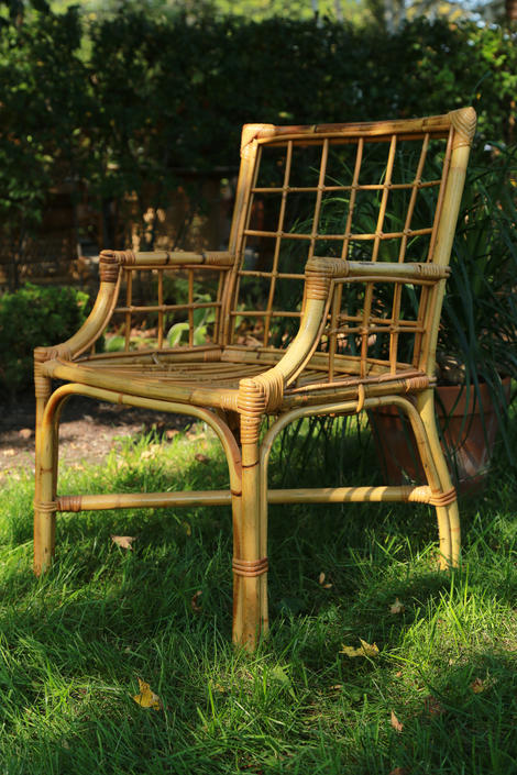 RESERVED for Robert !!!! Do not buy! Bamboo Chair by WorldofWicker