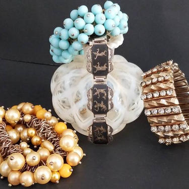 Vintage 50s Bracelet Lot by GraveyardVintage