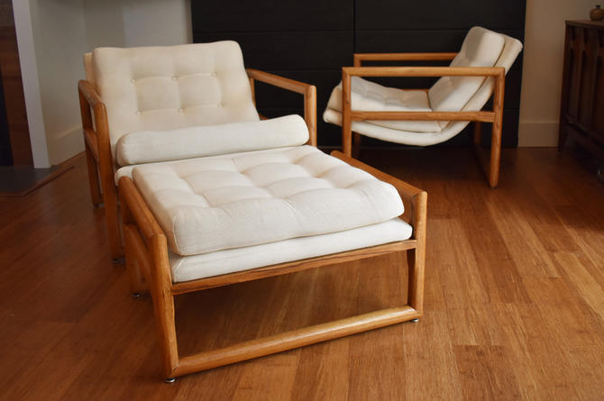 Miraculous Pair Of Milo Baughman For Thayer Coggin Scoop Chairs W Theyellowbook Wood Chair Design Ideas Theyellowbookinfo