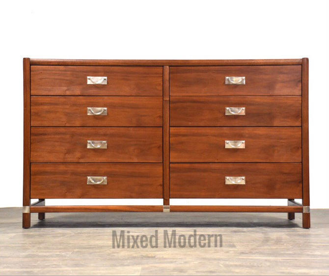 Walnut Tung Si Dresser by Hickory Furniture by mixedmodern1