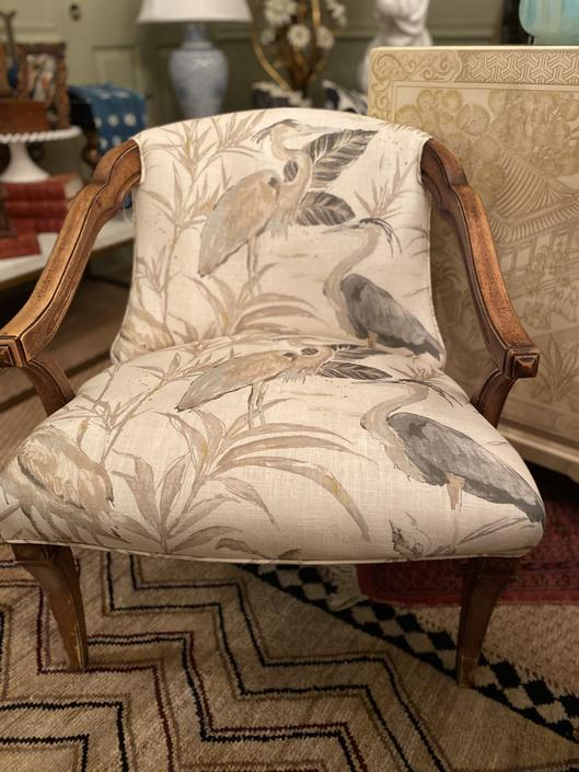 Upholstered Pair of Vintage chairs