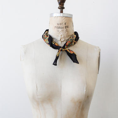 1970s deadstock indian cotton block print bandana by blossomvintageshop