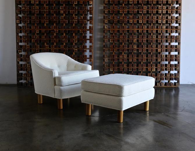 Harvey Probber Lounge Chair & Ottoman, circa 1955